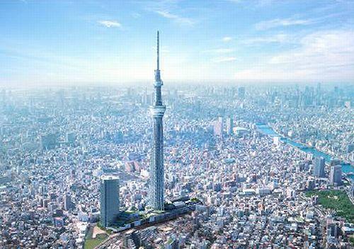 東京スカイツリーの展望台の高   -