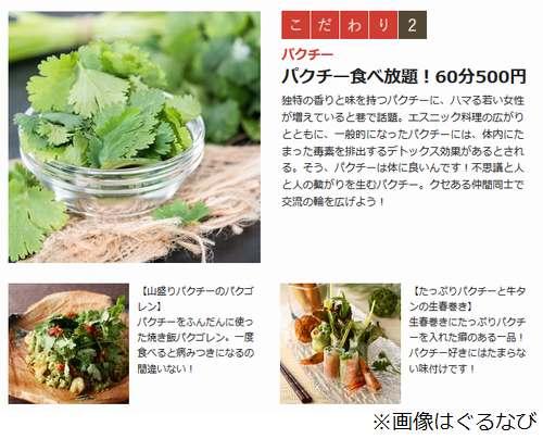 60分間延々と「パクチー」を食べ続けられる! なんと500円!!! パクチーって美味いの?